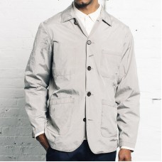 Men Solid Color Long Sleeve Jacket with Pockets