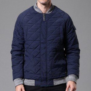 Mens Casual Comfy Zipper Quilted Jacket