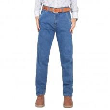 Mens High Rise Straight Leg Cotton Classic Big Size Jeans Denim Pants