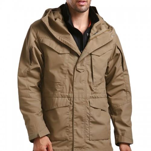 Mens Outdoor Army Tactical Coat Multi-pocket Hooded Windproof Waterproof Jacket