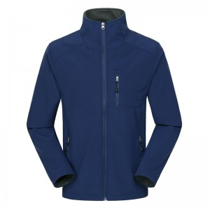 Mens Outdoor Soft Shell Thermal Fleece Lining Windproof Stand Collar Sport Jacket